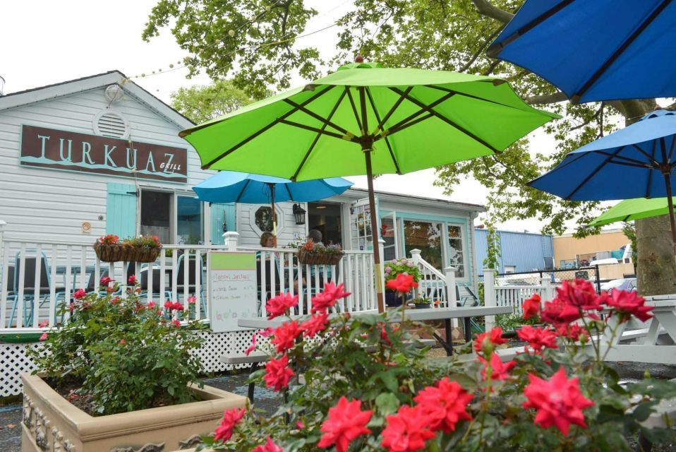 Turkuaz Grill Riverhead The Restaurant Is Situated Off Munil Lot That Fronts Peconic River It S At End Closest To Aquarium