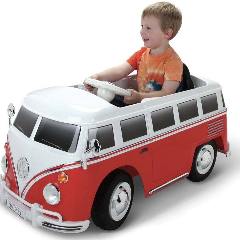 6V VW Volkswagen Bus Battery Powered Ride On Kids Car Toy