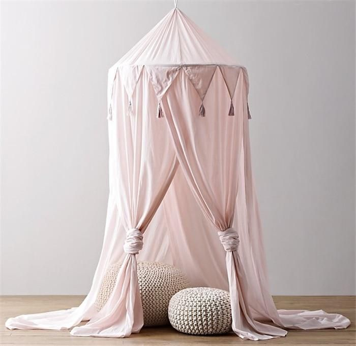 Baby Bedding Hanging Kid Baby Bedding Round Dome Bed Decoration Canopy Bedcover Mosquito Net Curtain Home Bed Crib Tent Hung Dome Romantic Smoothing Circulation And Stopping Pains