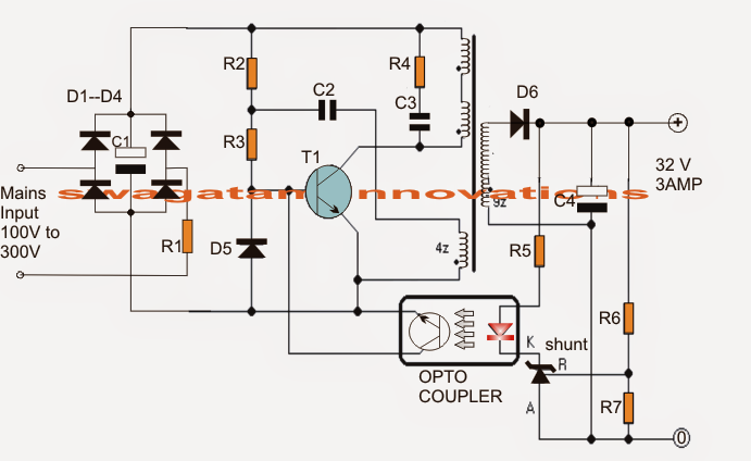 100 watt led driver circuit  com imagens