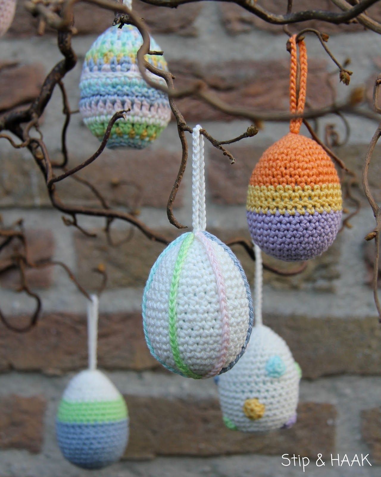 Haakpatroon Paaseieren Omhaken Haken Easter Crochet Easter En