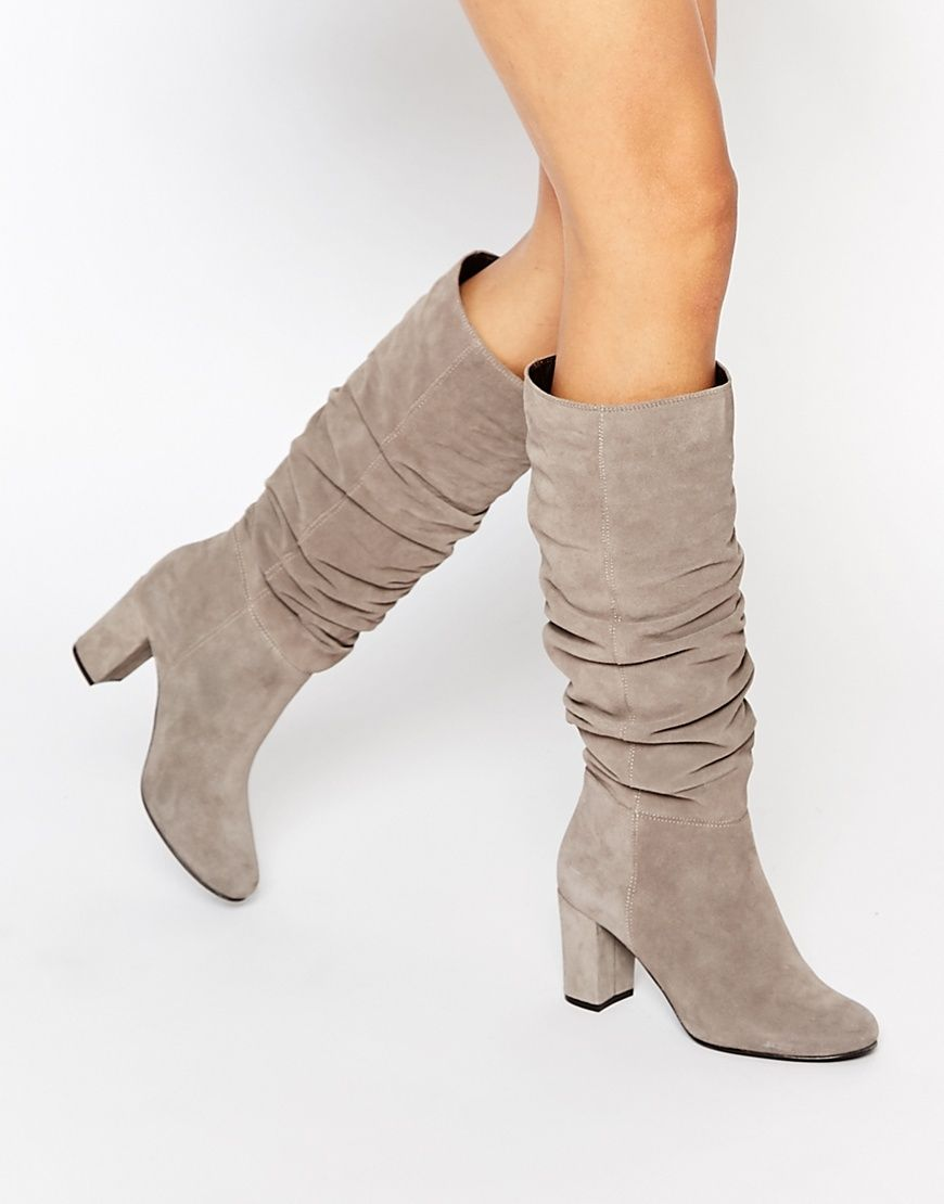 Women's Trendy Snake Patterned Buckle Strap Block Medium Heel Round Toe Pull On Slouchy Mid Calf Boots