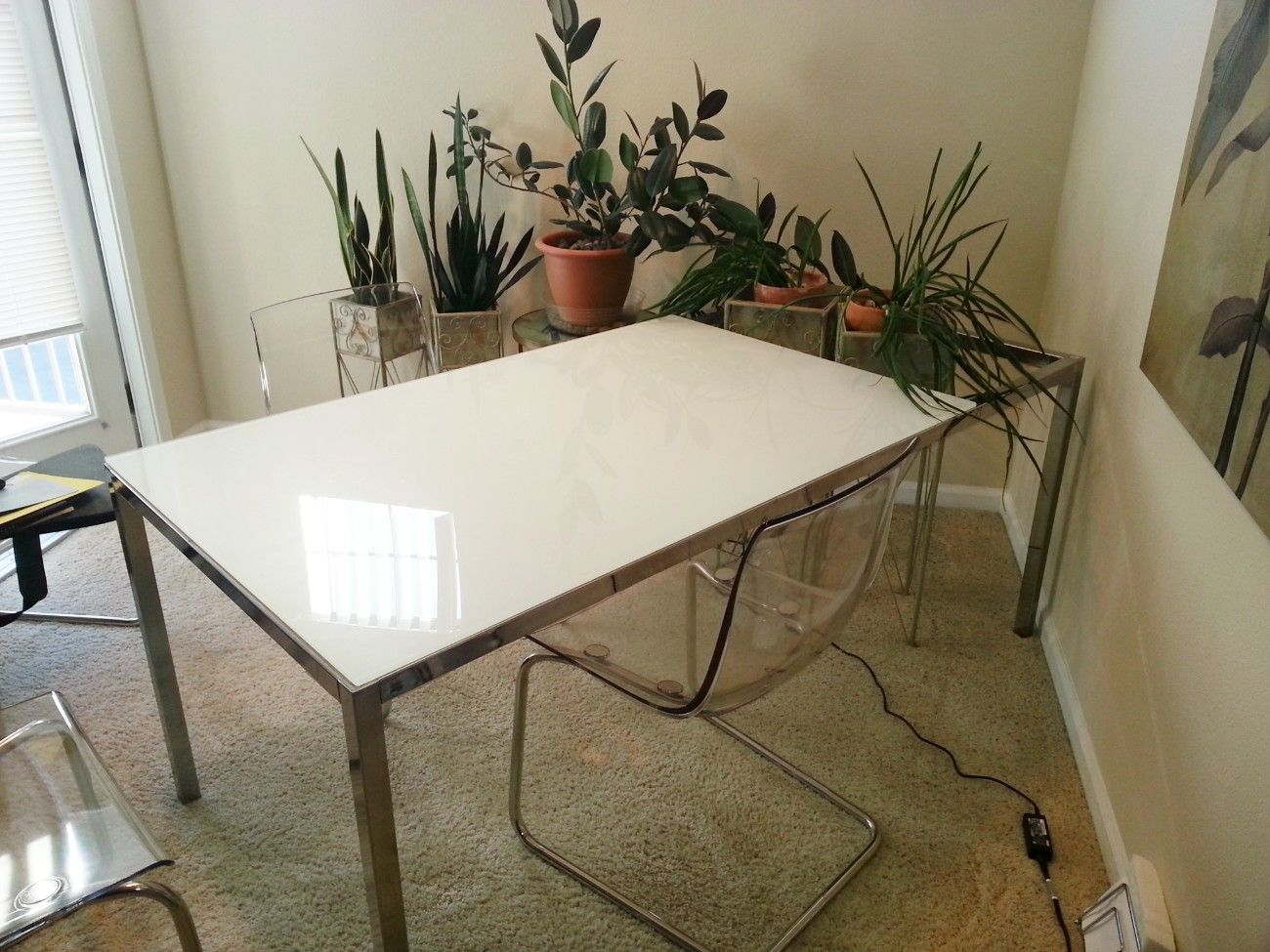Santa clarita ikea torsby glass top dining table 299 for Ikea glass table tops