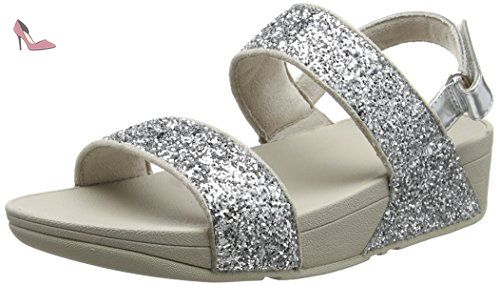 Femmes Glitterball Diapositive Plateausandalen, Schwarz, Une Taille Fitflop