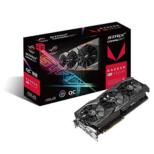 Asus Radeon Rx Vega 64 8gb Overclocked 2048 Bit Hbm2 Pci Express 3 0 Hdcp Ready Video Card Graphic Card Asus Nvidia