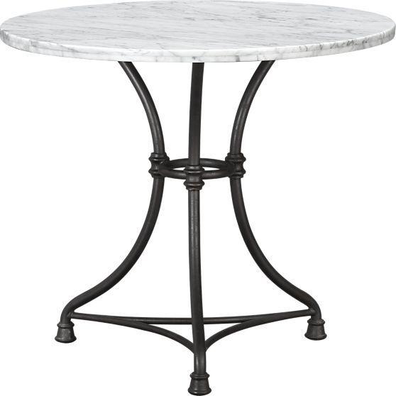 french kitchen round bistro table horizon terrace dream mesas de rh pinterest cl