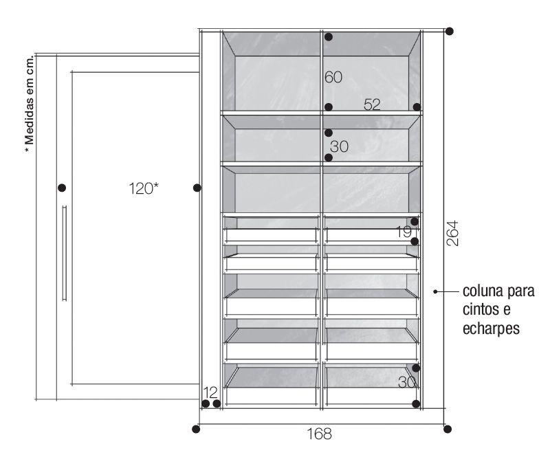 Closets e guarda roupas bem organizados guarda roupas - Medidas de un armario ...