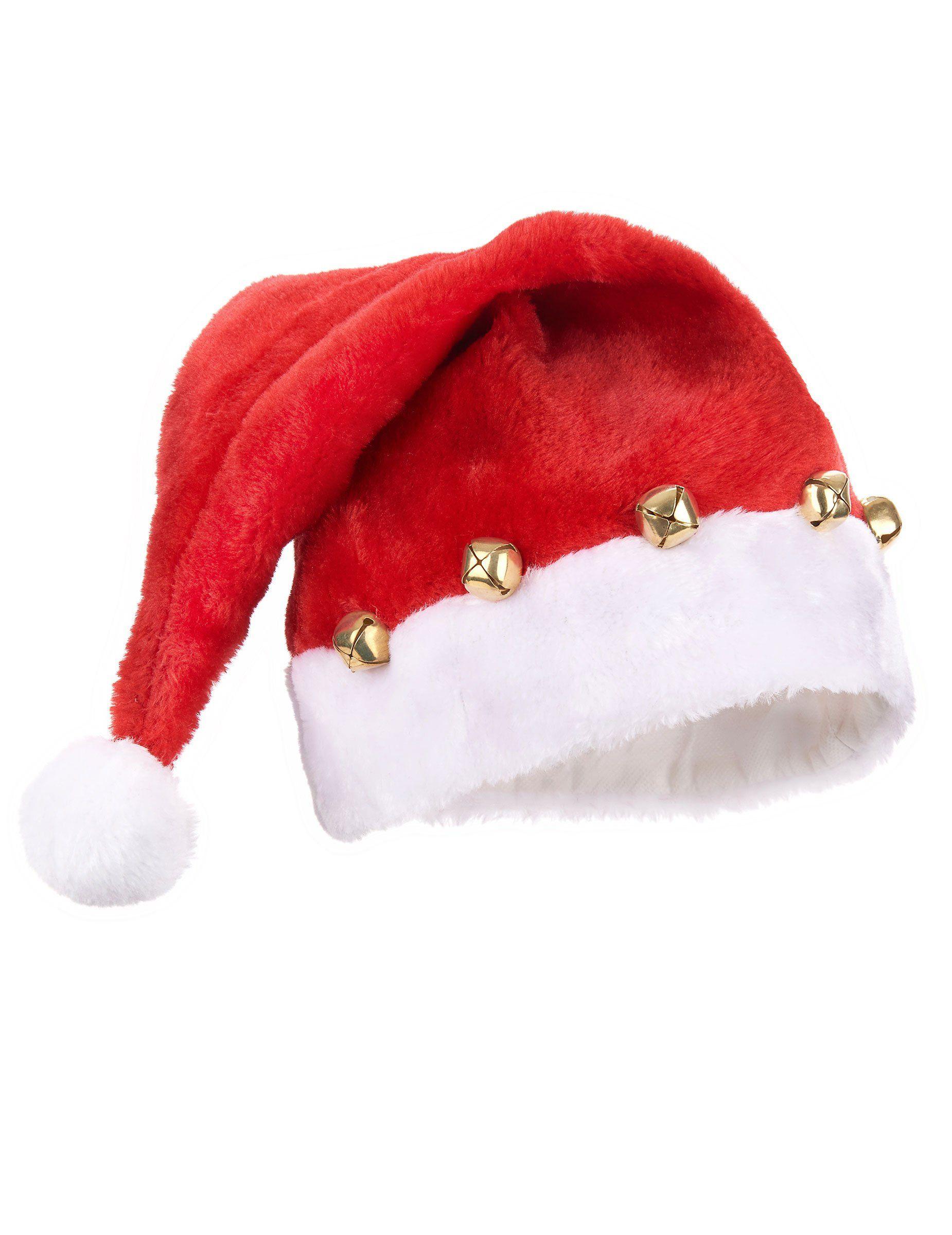 9a01ebefb8278 Gorro de Papá Noel con cascabeles Gorros Navideños Para Niños