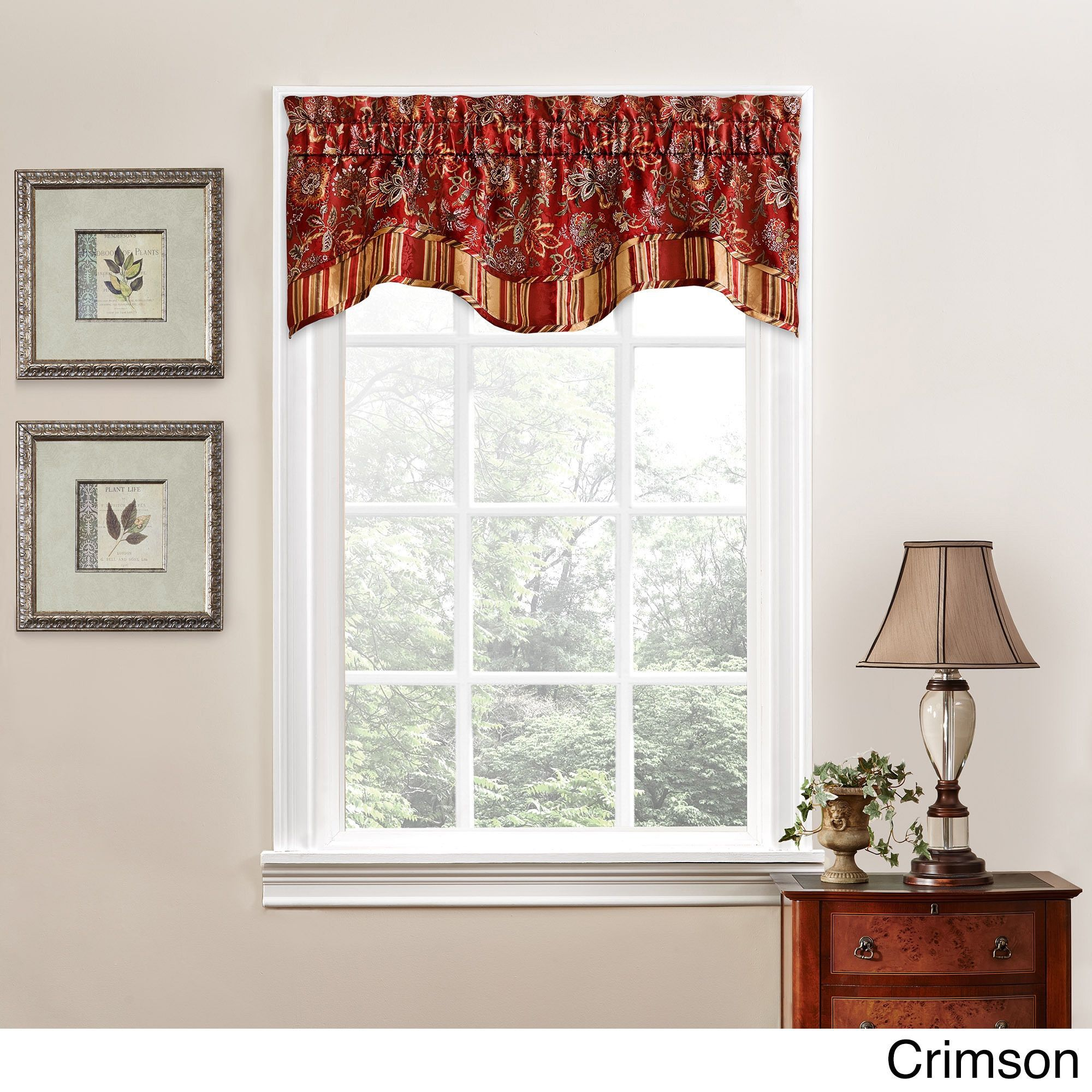 Traditions By Waverly Navarra Floral Window Valance Small Window Curtains Valance Window Treatments Valance #tailored #valances #for #living #room