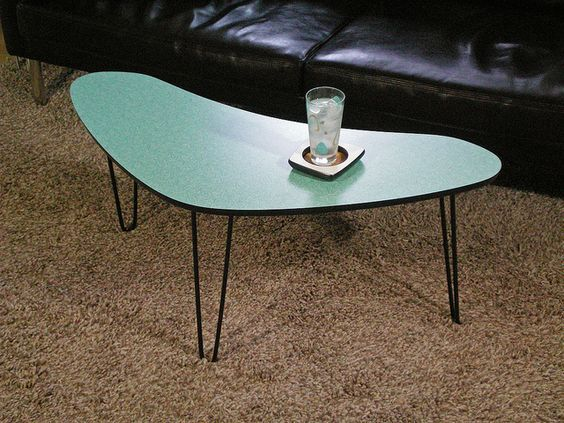 Ooo Lovely Boomerang Shaped Coffee Table Atomic Decor Coffee