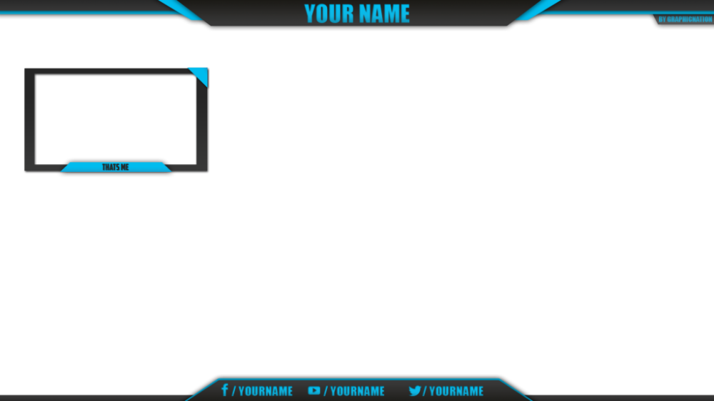 Stream Overlay Template Blue Hd Png Download Youtube Banner Template Png Youtube Banner Template Overlays Overlays Transparent
