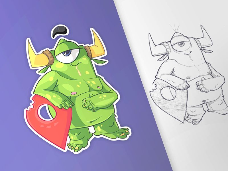 Monsters Pin by spovv #Design Popular #Dribbble #shots