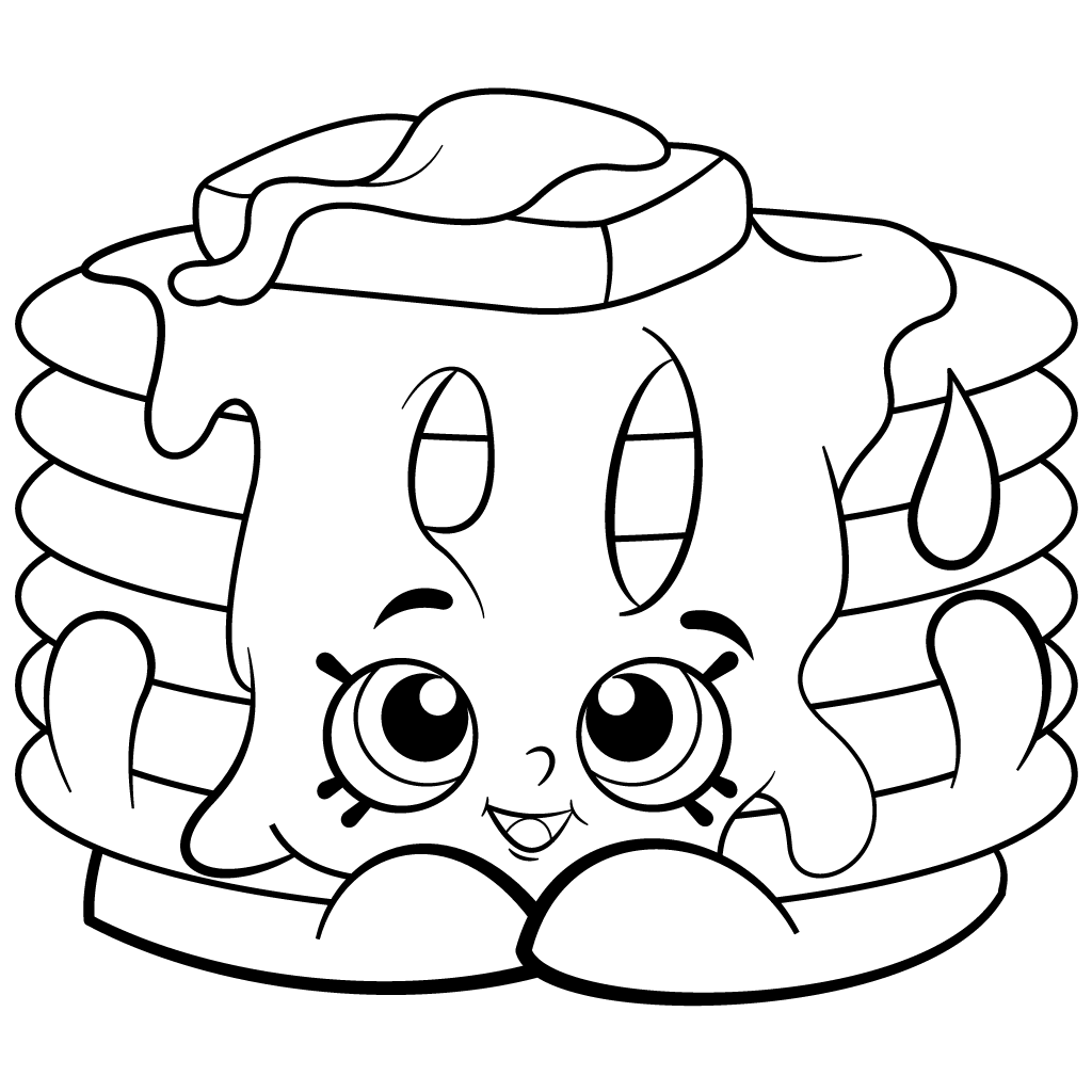 Shopkins coloring pages to print out - Free Printable Shopkins Coloring Page