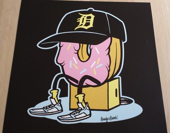 Donuts By Ready2rumbl Vinyl Me Please 12x12 Mickey Mouse
