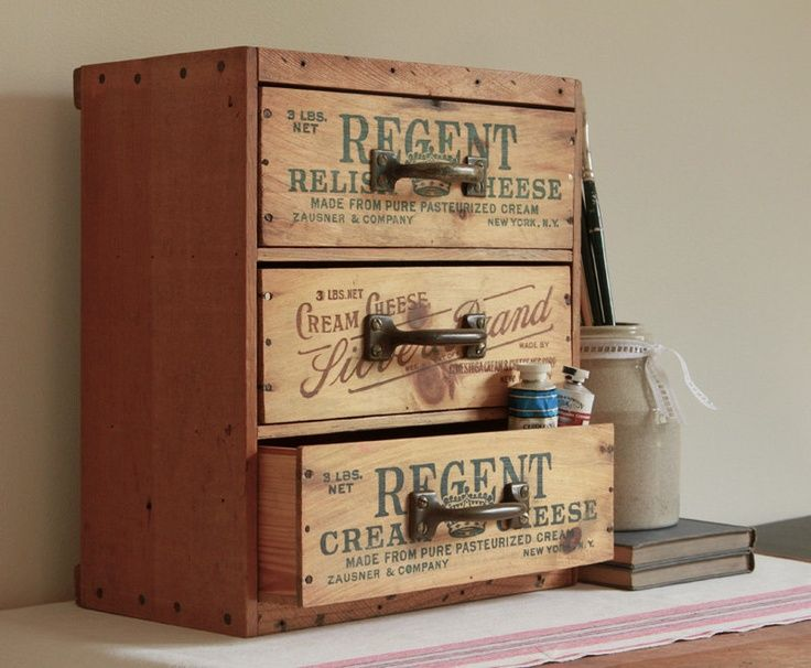 Drawer Desk And Tool Organizer From Repurposed Vintage