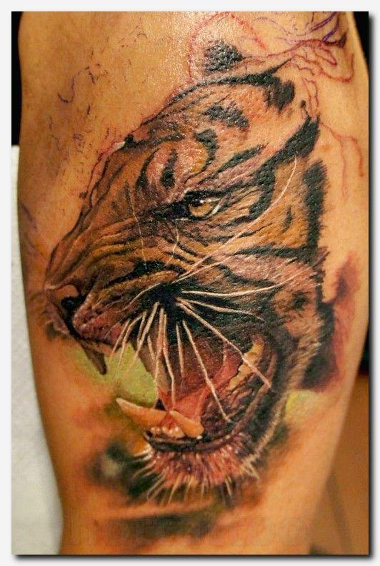 Tattoo Sleeve Generator: #tigertattoo #tattoo Tribal Tricep Tattoos, Tattoo Designs
