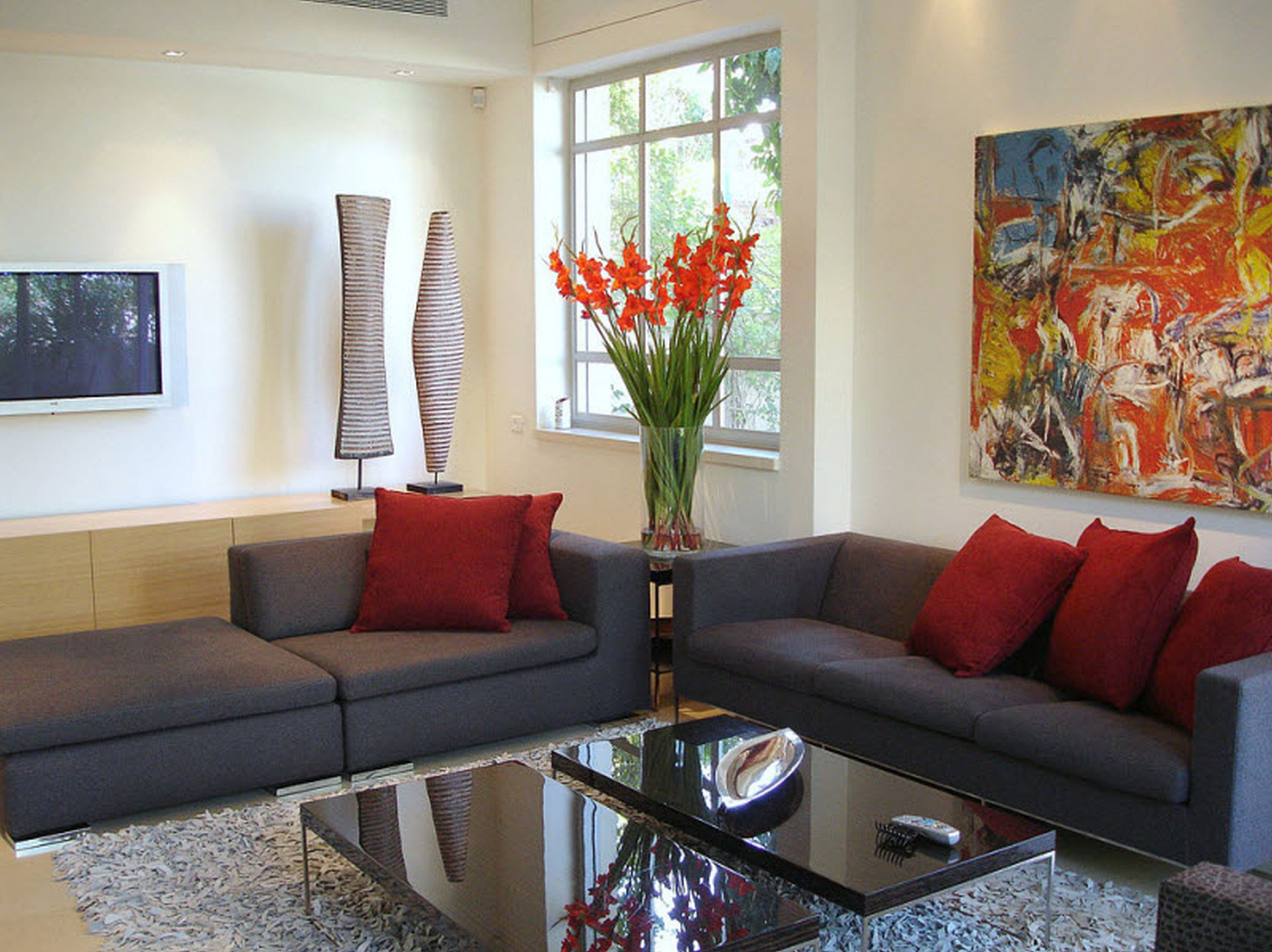 Wonderfulgreywhitewoodglassmoderndesignapartmentliving Entrancing Home Decor Ideas For Living Room Design Ideas