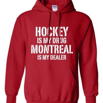 hockey is my drug detroit is my dealer sweater nhl red wings hockey birthday gift christmas gift hockey fan custom hoodie team pride