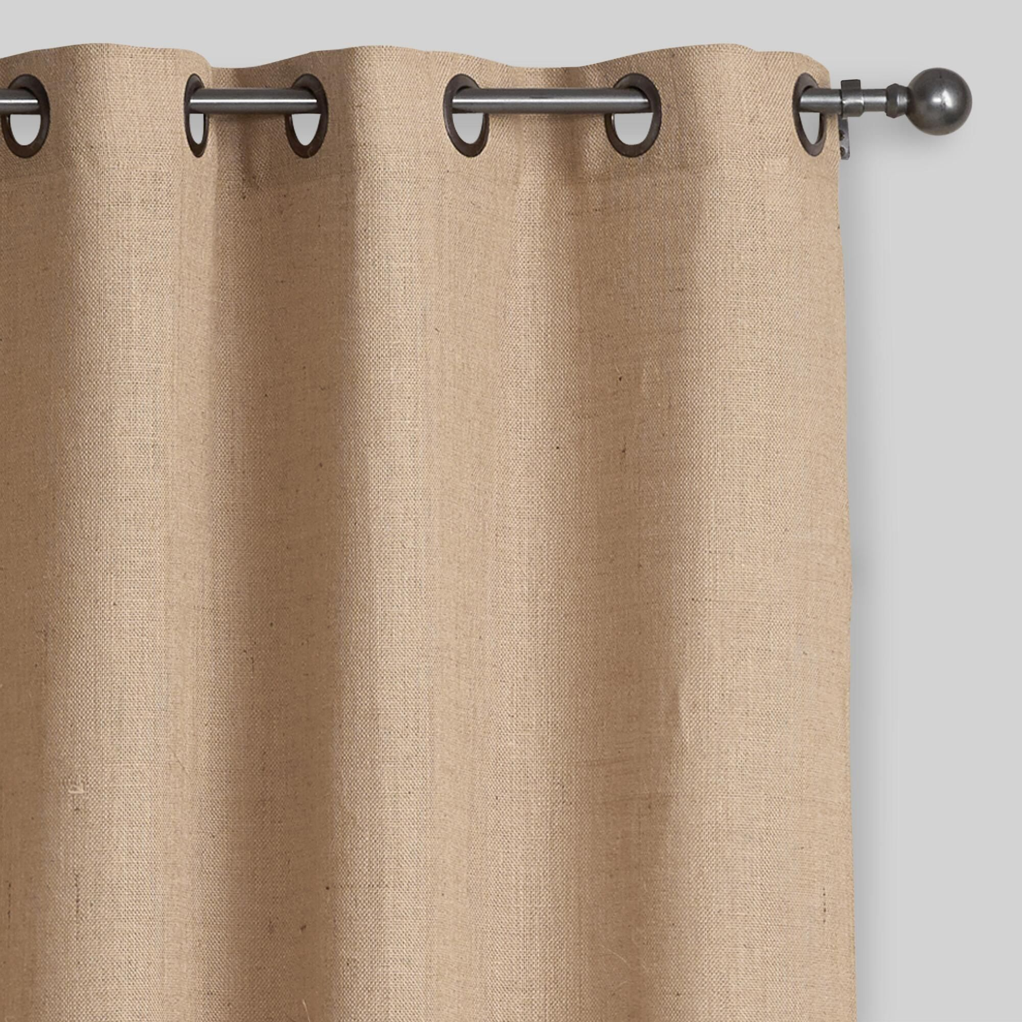 Our Hemp Burlap Grommet Top Curtains Bring A Rustic Look And