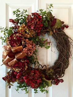FALL WREATHFront Door WreathThanksgiving Wreath Pumpkin