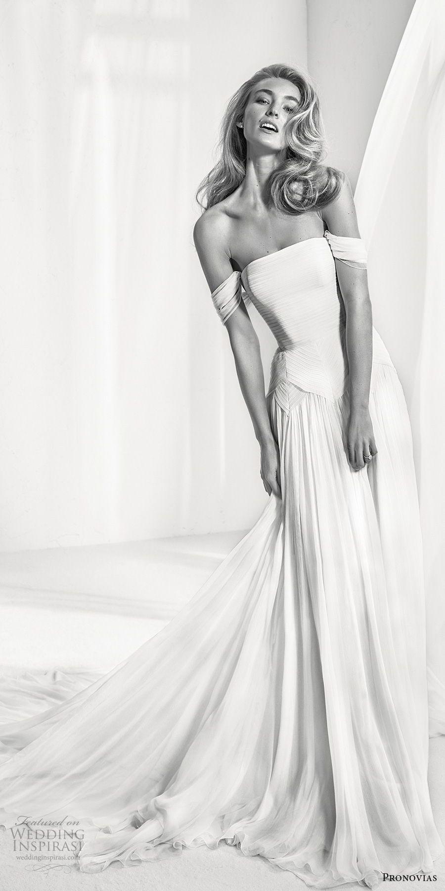Atelier pronovias 2018 Braut weg von der Schulter gerade über ...