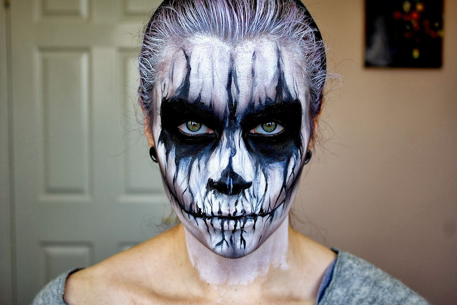 demon pulled up skin halloween makeup tutorial youtube - HD1600×1066