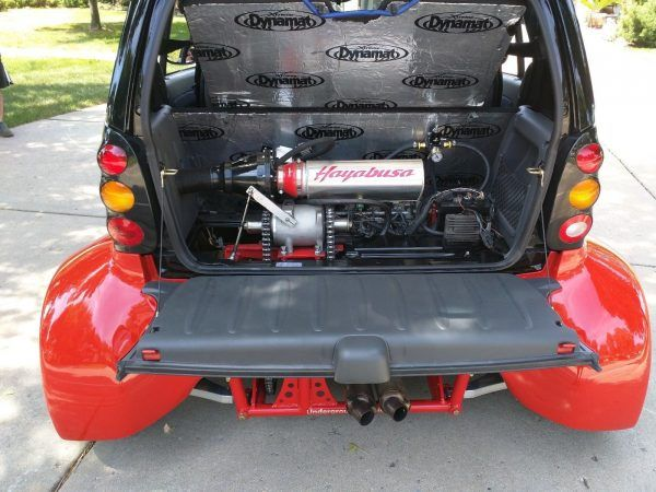 Smart Fortwo With A Hayabusa Engine Swap Car
