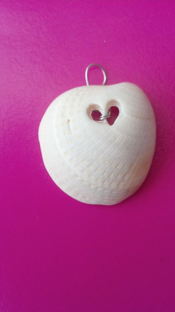 Heart Shell Pendant by LuckyJadeCrafts on Etsy, $7.00