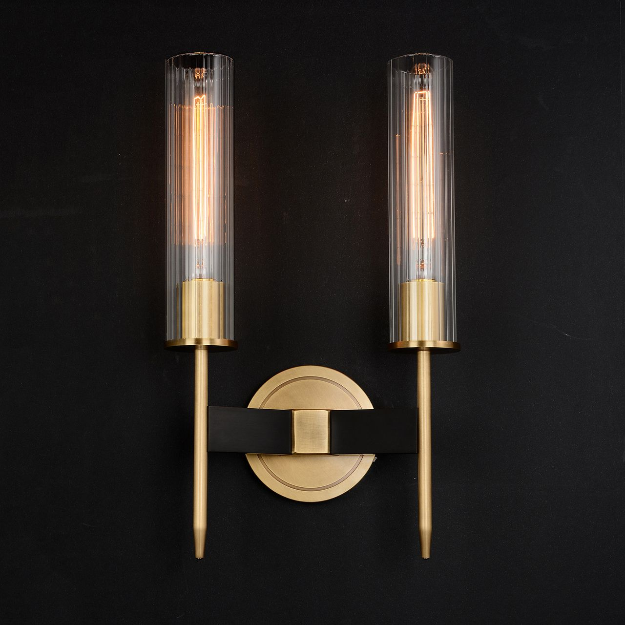 Aicken Double Sconce Brass Sconces Brass Wall Sconce Wall Sconces