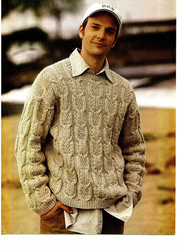 MADE TO ORDER crewneck Sweater turtleneck men hand knitted sweater ...
