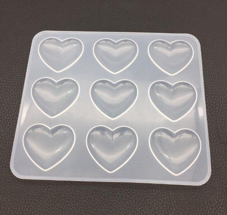 Heart Pendant Shiny Silicone Mold for Epoxy Resin Crafts