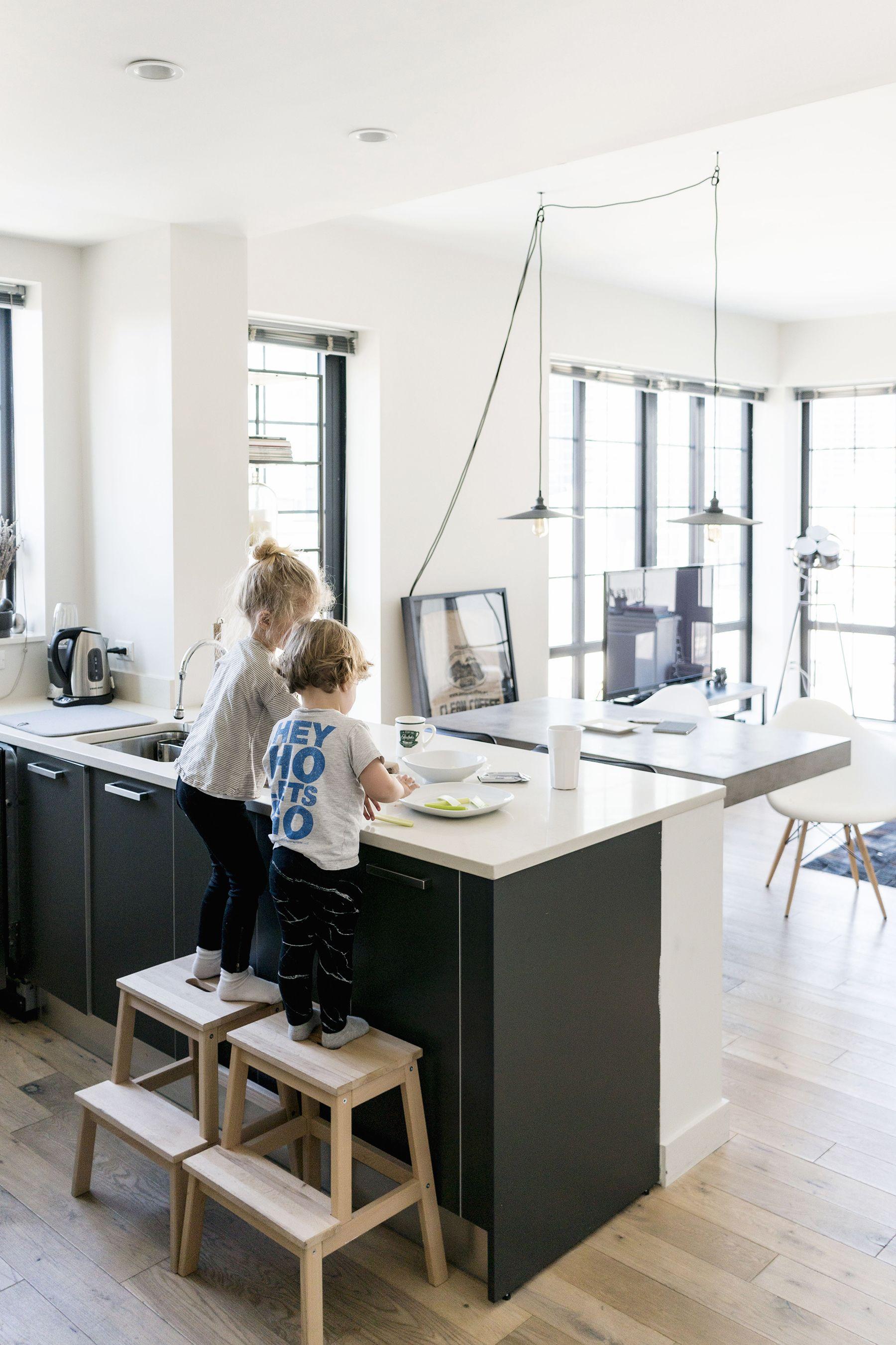 Ikea Bekvam step stools in the kitchen   Scandinavian, industrial ...