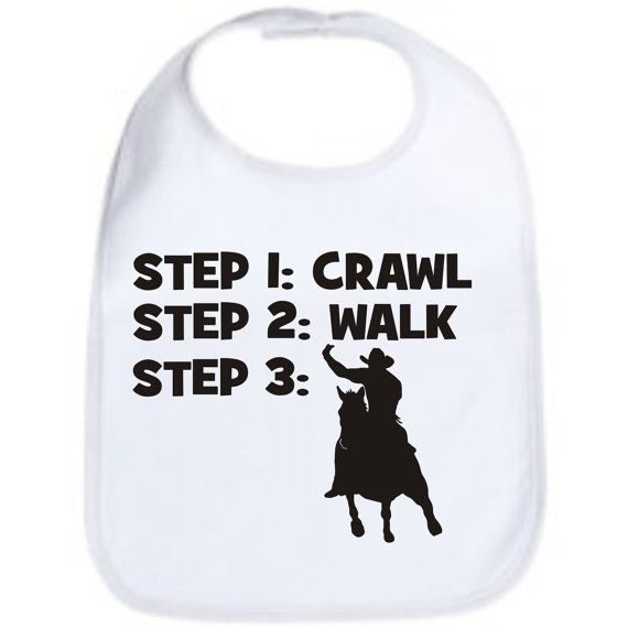 Steps To a Horse Riding Baby Feeding Bib Gift