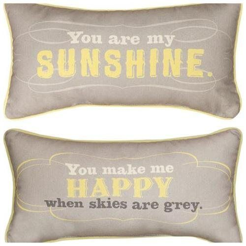 You Are My Sunshine Reversible Happy Decorative Pillow Decorating Inspiration You Are My Sunshine Decorative Pillow