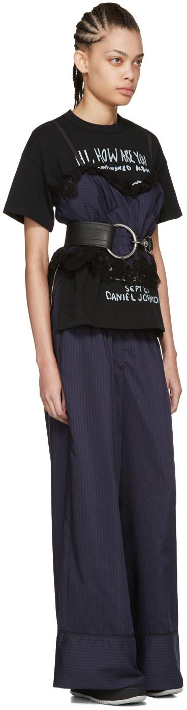 Sacai - Black Daniel Johnston T-Shirt