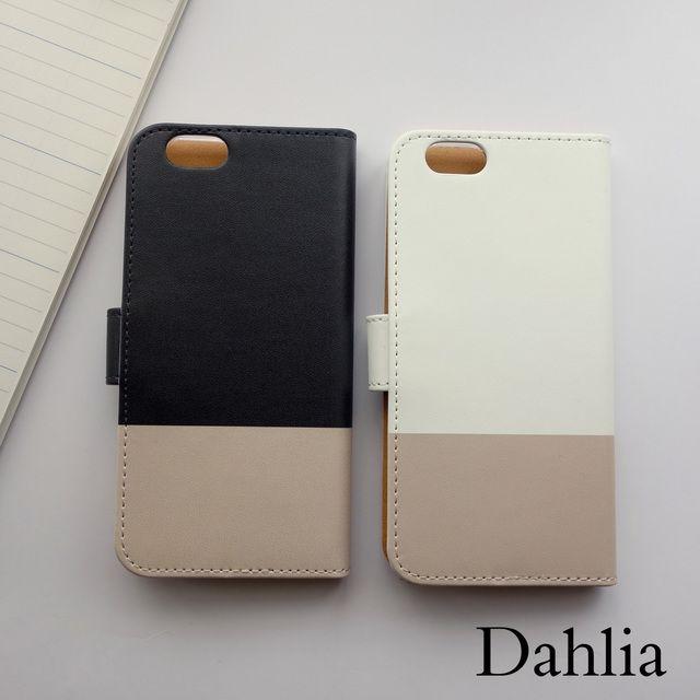 937224cc9f シックなバイカラー手帳型iPhoneケース / スマホケース ユニセックス メンズ iPhoneXS/iPhoneX