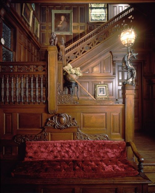 Victorian Era Foyer : Beautiful staircase and foyer in victorian era home