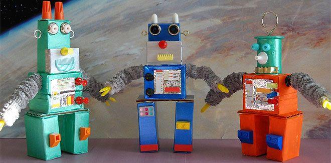 Como hacer robots con cajas de caramelos manualidades - Manualidades con cajas ...