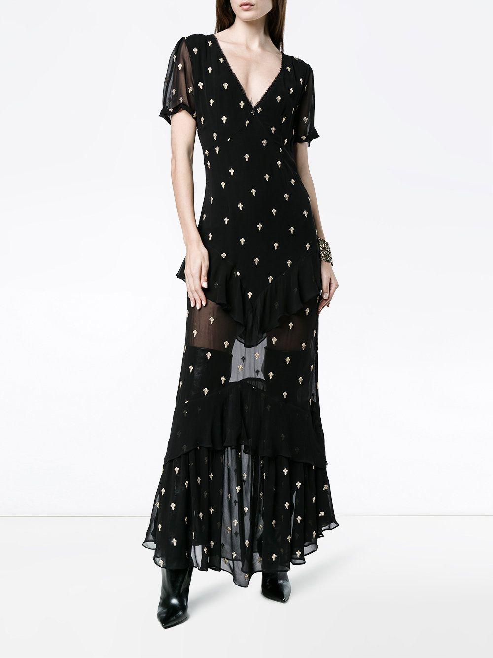 Juliette cross embroidered dress De La Vali 13A43KqVmo