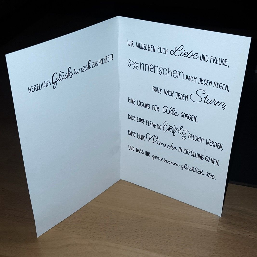 Wedding Card Hochzeitskarte Glückwünsche Zur Hochzeit