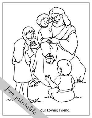 a year of fhe 2011  week 12 friendship  jesus coloring