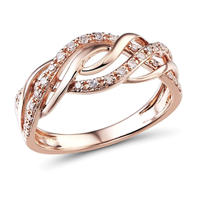 Diamond Wedding Anniversary Band in 10k Rose Gold Check