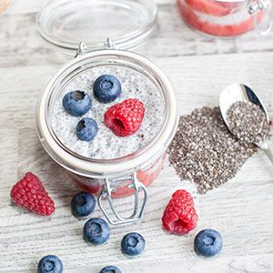 Frischer #Chia Joghurt - nicht nur für heiße Tage #Rezept #Superfood