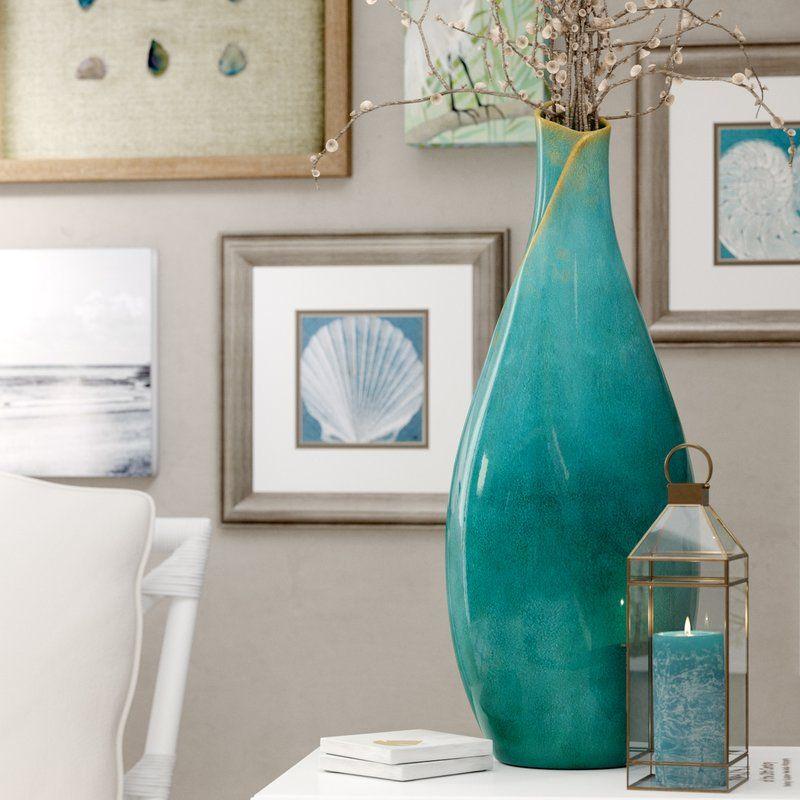 Bloomfield Floor Vase In 2020 Turquoise Vase Decor Floor Vase Turquoise Vase