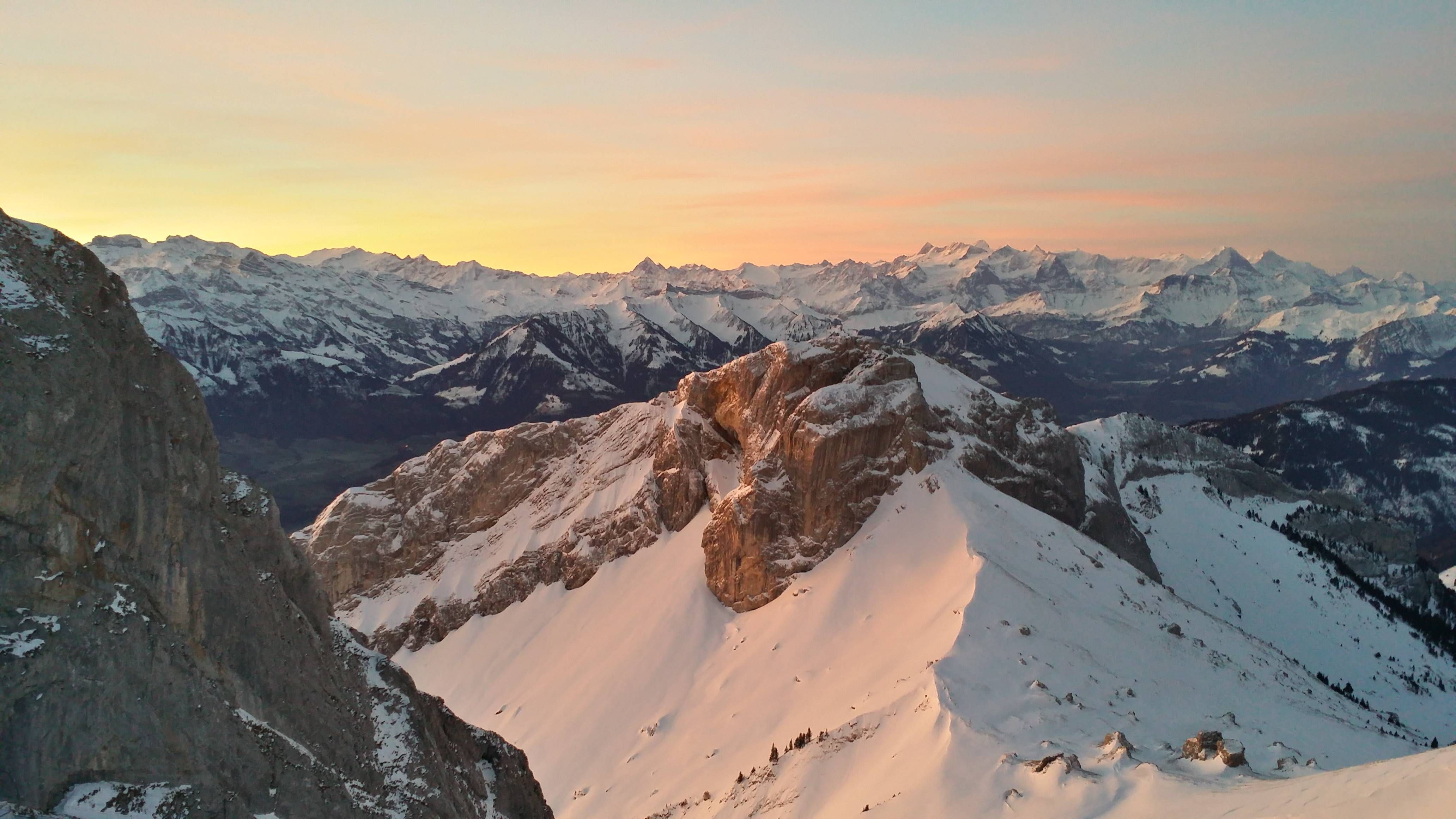 View of the Alps From Pilatus Mountain Lucerne Switzerland