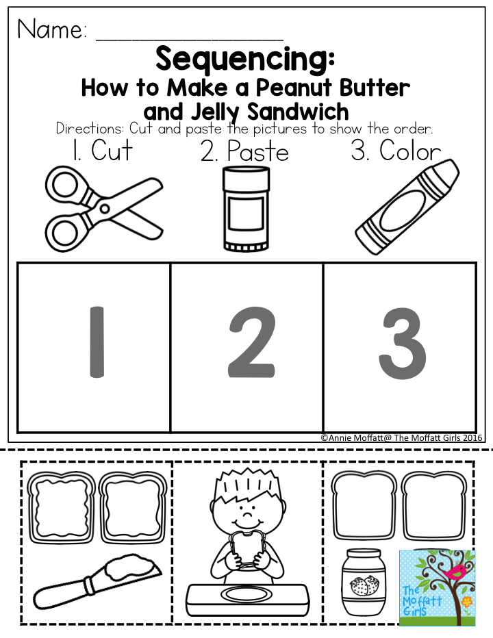 Printable Worksheets esl sequencing worksheets : Sequencing: How to Make a Peanut Butter and Jelly Sandwich. TONS ...