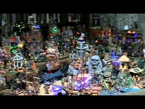 Crazy Halloween Village Display