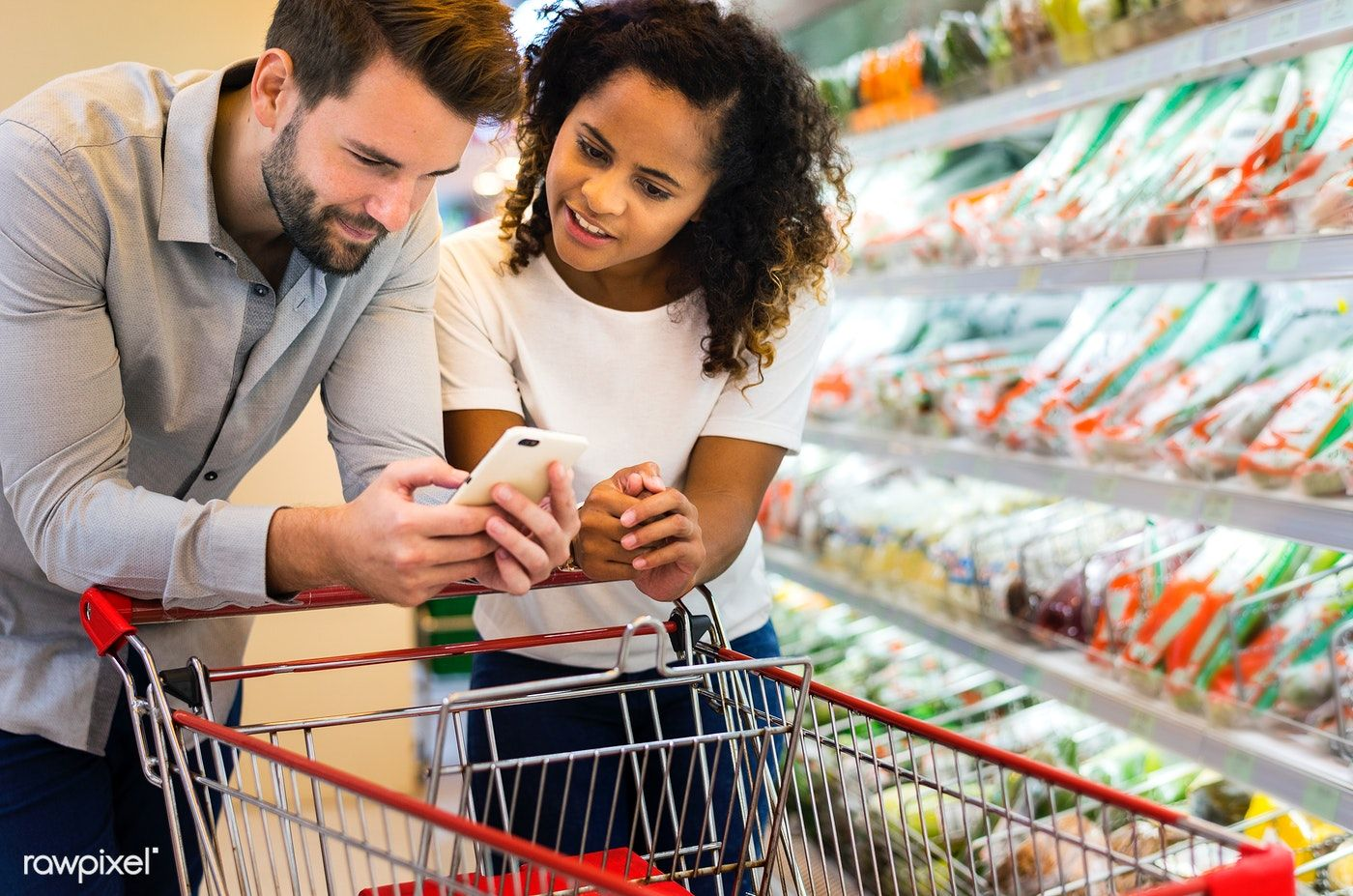Download premium image of Couple shopping together at a supermarket 404466  | Supermarket, Couples images, Couples