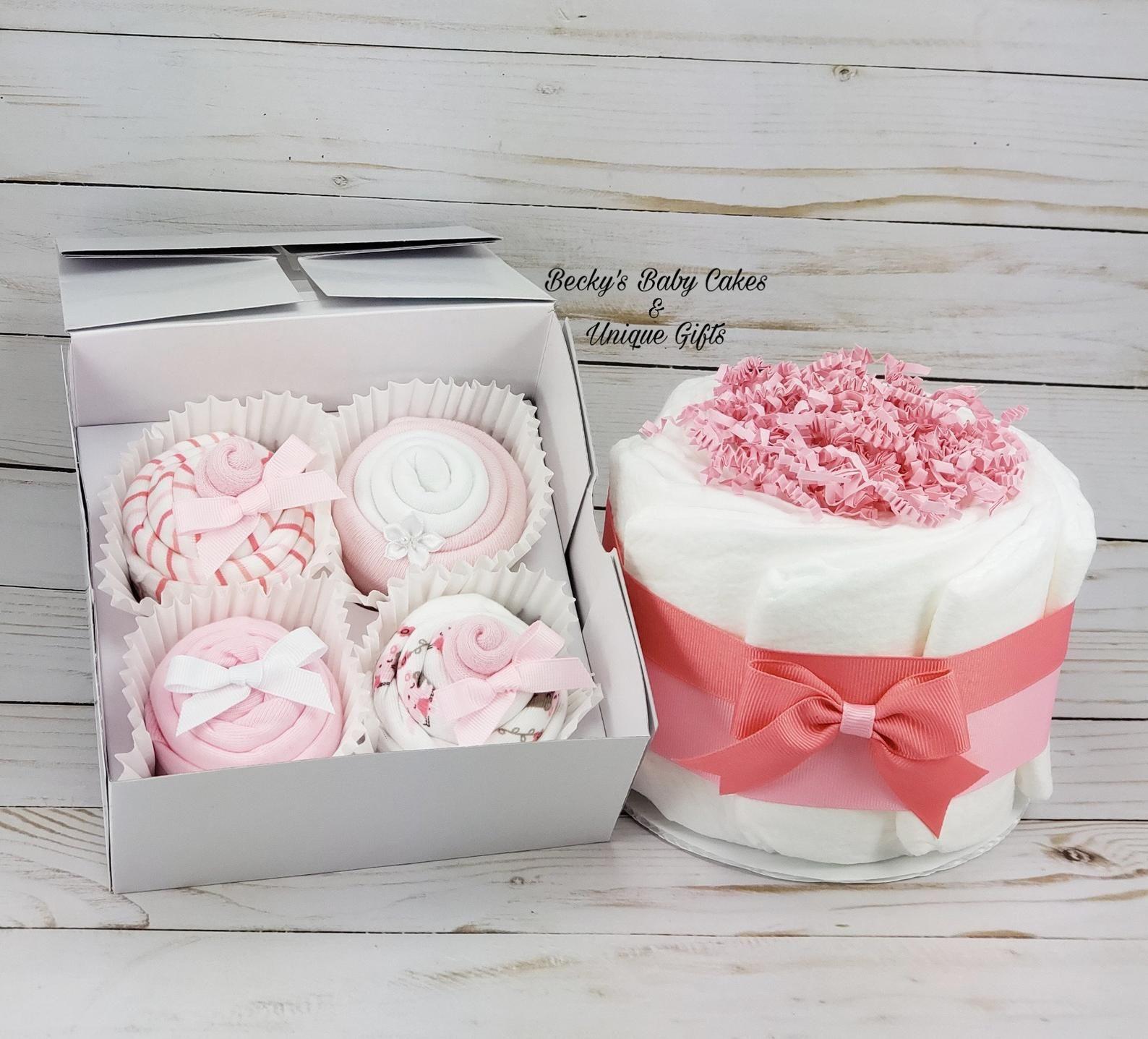 137baac2b2 New Baby Gift, Onesie Cupcakes, Baby Cupcakes, Baby Shower Gift Set ...