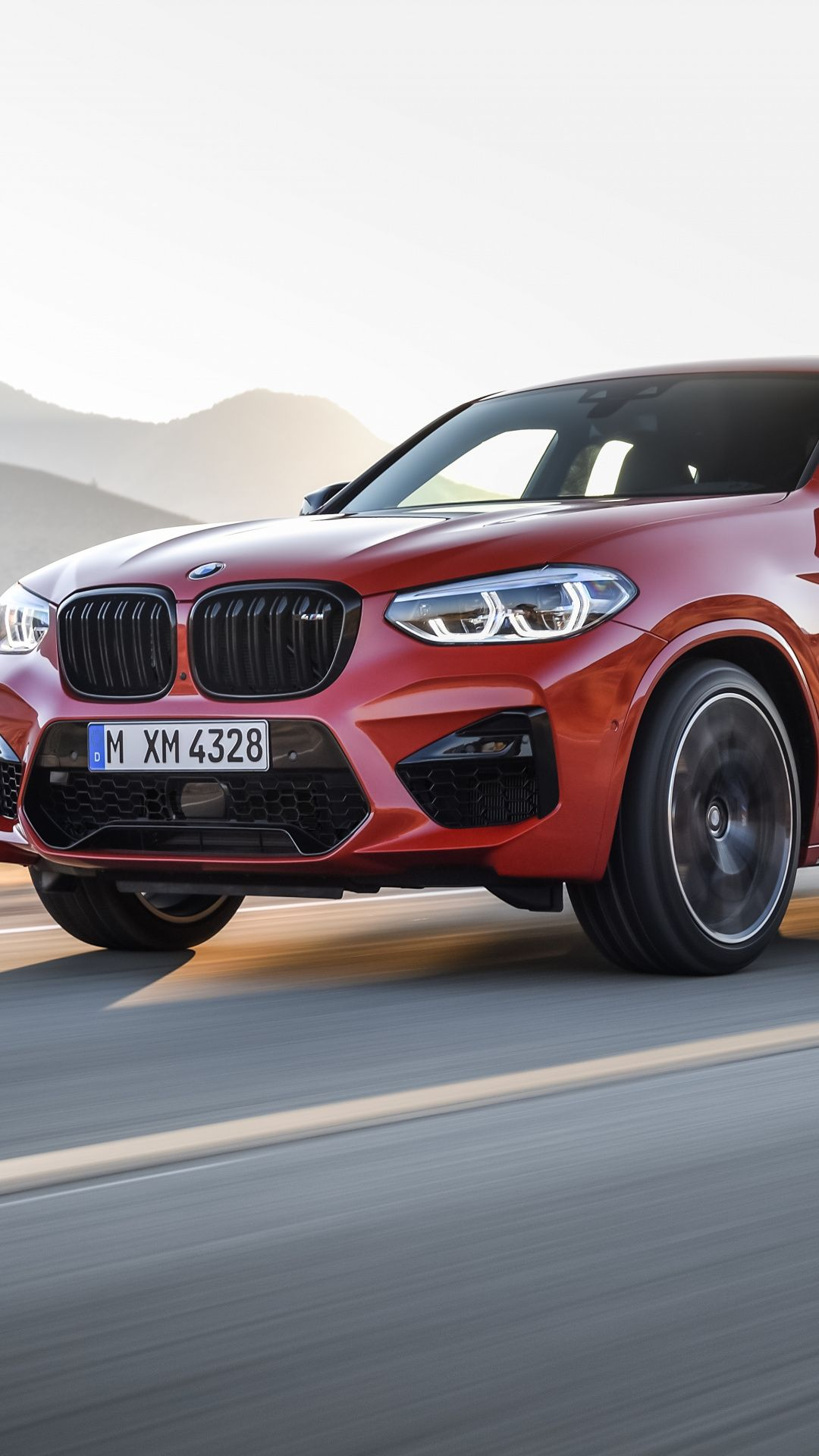 Downaload Luxury Car Red Bmw X4 Wallpaper For Screen 1080x1920